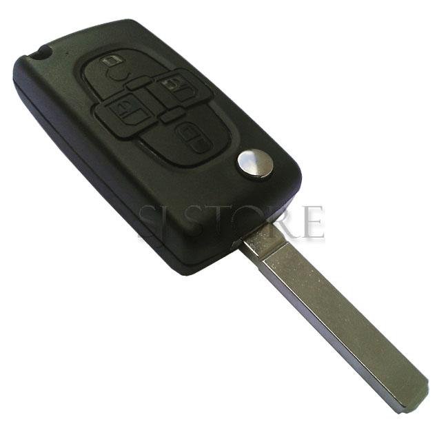 ce0523 coque cle telecommande plip peugeot 807 1007 4 boutons ebay. Black Bedroom Furniture Sets. Home Design Ideas