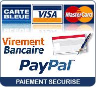 Modes de paiements acceptés